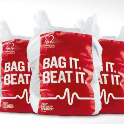 British Heart Foundation Bag it Beat it logo