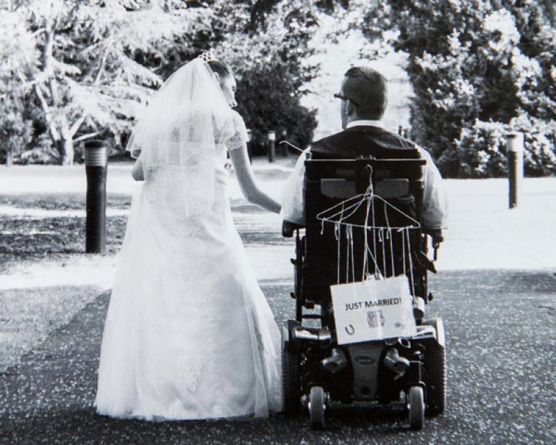 Adam and Krystina on their wedding day