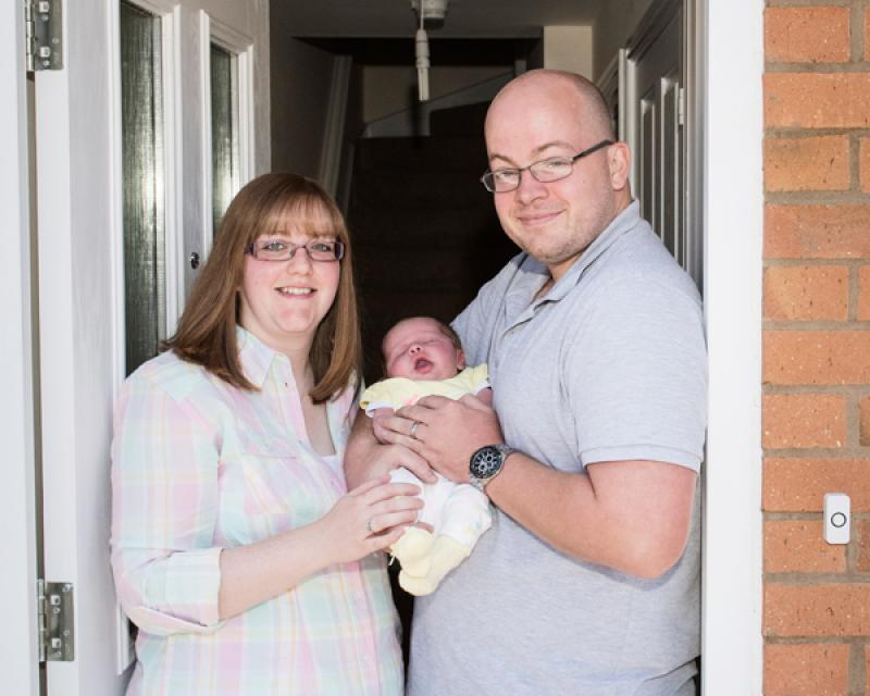 Jess and Simon Quilter with their daughter Shannon